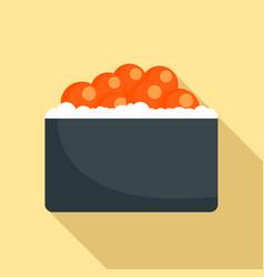 Hotate tai sushi icon flat style vector