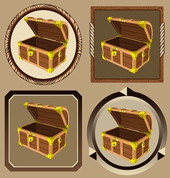 Icons pirate chest vector