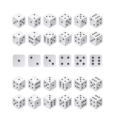 isometric 3d dice combination game cubes vector image