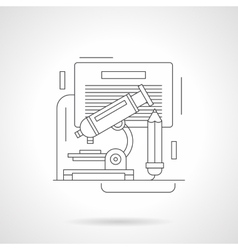 Laboratory research detailed line icon vector image