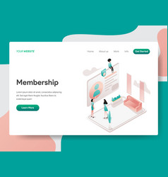 Landing page template membership concept vector