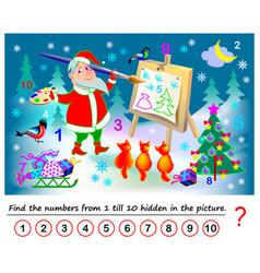 logical puzzle game for kids math exercise vector image