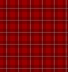 Lumberjack checkered square plaid red color vector image