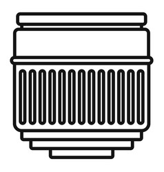 macro lens icon outline style vector image