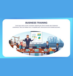 man arab conducts business training vector image