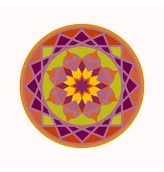 Mandala tattoo colored icon Geometric round vector