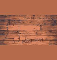 Mississippi map brand vector