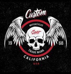 motorcycles trademark emblem vector image