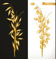 oat 3d realistic icon vector image