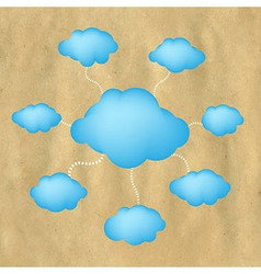 Old Paper And Web Clouds vector image