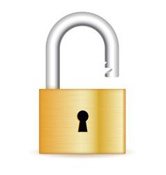 open padlock vector image