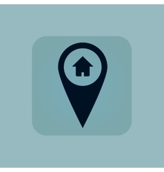 Pale blue house pointer icon vector