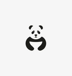 Panda logo symbol design asian food icon vector