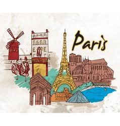 Paris doodles vector