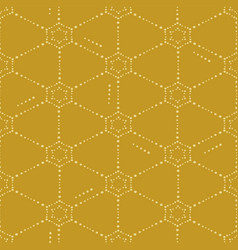 Pattern with dotted netting on a yellow background vector