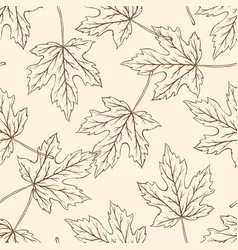 pattern with falling maple leaves vector image