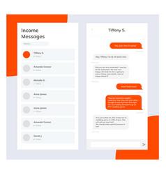 Phone chat interface sms messenger speech vector
