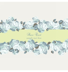 Roses Vintage Invitation card vector