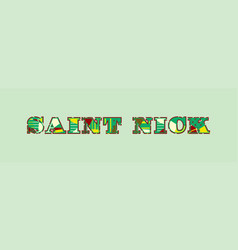 Saint nick concept word art vector