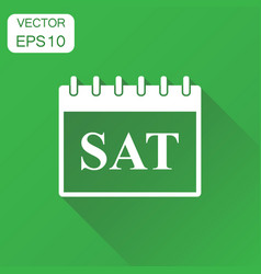 Saturday calendar page icon business concept vector