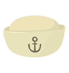 sea-cap icon cartoon style vector image