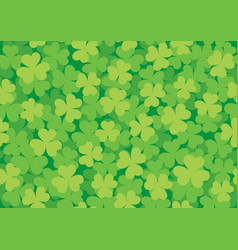 seamless clover pattern bright vector image
