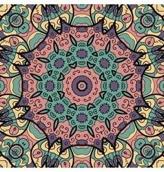 Seamless floral mandala vector image