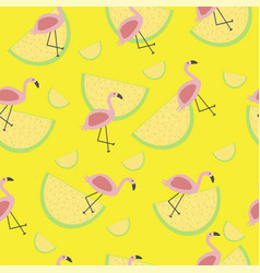 Seamless tropical pattern with animal pink vector