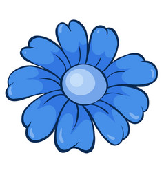 Single flower in blue color vector