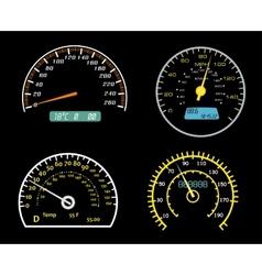 speedometers dials set vector image