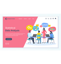 Statistical data analysis business plan strategy vector