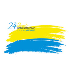 Ukrainian independence day 24th august vector