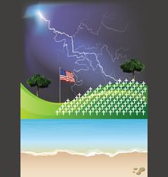 United sates america war graves vector