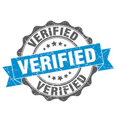 Verified stamp sign seal vector