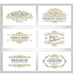 Vintage Banners Labels Frames vector image