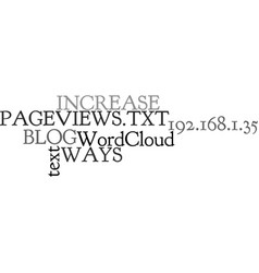 Ways to increase your blog s pageviews text word vector