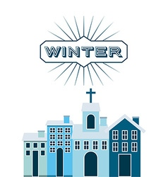 Welcome winter design vector