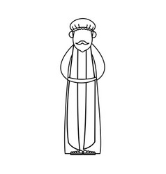 wise man cartoon epiphany tradition icon vector image