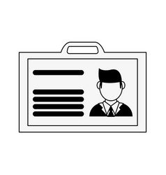 Work id card icon image vector