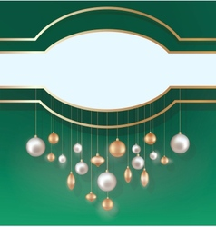 Christmas background with hanging ball vector image vector image