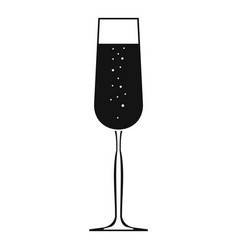 glass of champagne icon simple style vector image