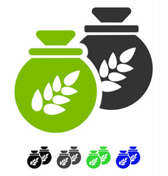 Grain harvest sacks flat icon vector