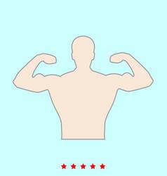 Bodybuilder it is color icon vector