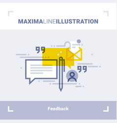 concept of client feedback and testimonials vector image vector image