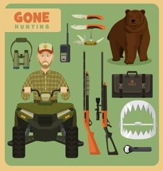 Gone hunting bear vector