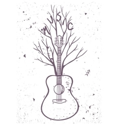 guitar tree vector image
