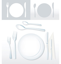 plates vector image