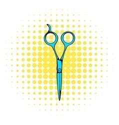 Steel scissors icon comics style vector image vector image