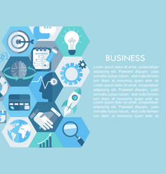 business concept with flat icons vector image