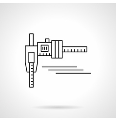 Calipers flat thin line icon vector image vector image